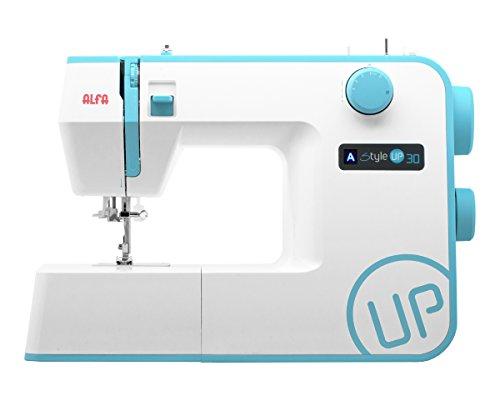 Alfa style up 30 m quina de coser color azul for Maquinas de coser zaragoza